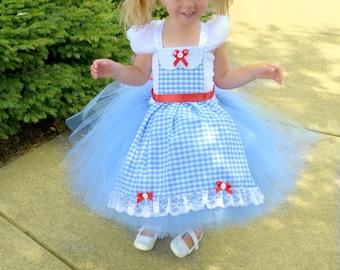 Dorothy Tutu Dress, Wizard of Oz Tutu Dress, Dorothy Costume, Dorothy Dress, Wizard of Oz Tutu Costume, Wizard of Oz Birthday, Wizard of Oz