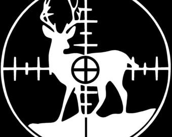 Deer In Sights Vinyl sticker