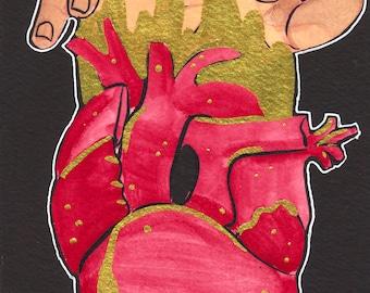 Handful ORIGINAL Gouache Watercolor Painting