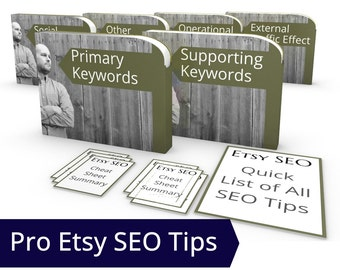 Etsy Search Engine Optimization Book - Etsy Rank, SEO eBook,  Etsy Search SEO Secrets, How to Increase Traffic to Etsy Shop SEO Guru Tagging