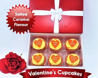 Valentine's Day Salted Caramel Cupcakes
