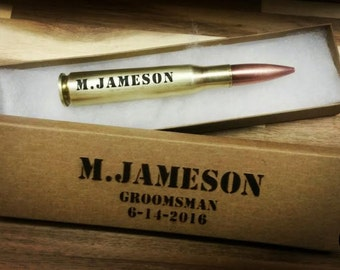 Personalized 50 caliber 50 cal bottle beer opener ammo box ammo can real bullet groomsmen gift fathers day gift best man gift friend gift