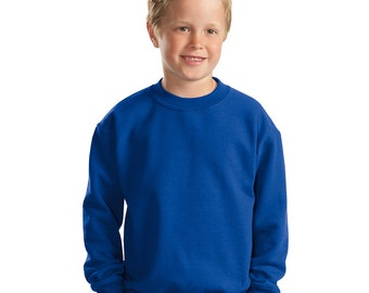 Youth Sweatshirt - Any Design in Our Shop on a Sweatshirt with Custom Colors - Kids Crewneck