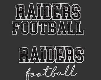Raiders Football SVG