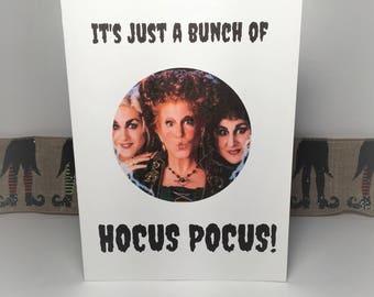 Hocus Pocus Halloween Greeting Card