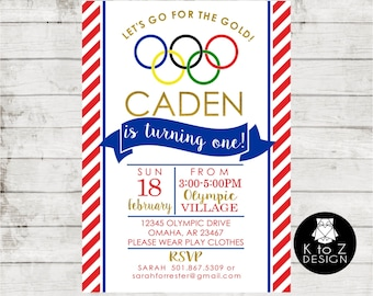 Olympic Gymnastics Birthday Party- Version 2/Gymmnastics Invitation /Olympic Party Invitation / Printable Invitation / Printed Invitations