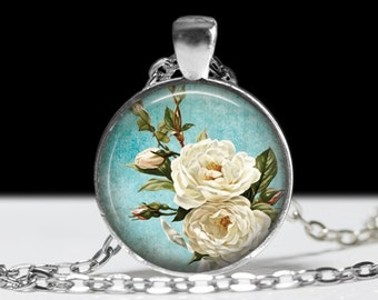 Flower Jewelry Rose Pendant Wearable Rose Pendant Charm