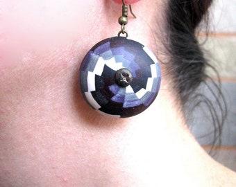 Purple earrings, Purple jewelry gift, Cute earrings gift, Cute purple earrings, Drop earrings, Boho earrings, Simple earrings, Gift for her