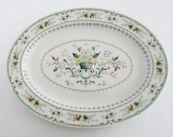 Set of 2, Royal Doulton England Provencal 16 inch Long Large Oval Serving Platters, Vintage Tableware