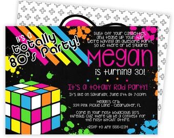 80s Invitation, 80s Party, 80s Birthday Invitations, 80s Invite, 80s Birthday, 80s Party Invitation, 80s Theme Party, 80s Invitations | 339