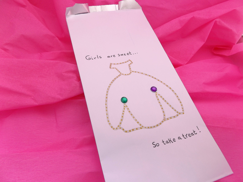 Custom Baby Shower Candy Bags Custom Baby Girl Treat Bags