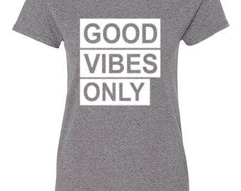 Good Vibes Only-Heather Gray
