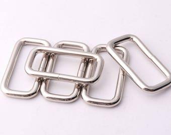 10pcs Rectangle rings 25mm(inner) rectangular buckles Purse ring Strap Rectangle Ring Purse Handbag Leather Craft Hardware