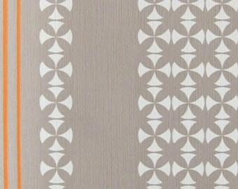 GREY MINIMALIST Vintage WALLPAPER Light Emboss Geometric 1960s 70s Original