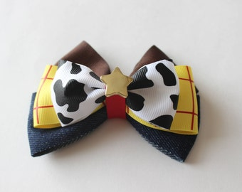 Toy Cowboy Woody Inspired Bow