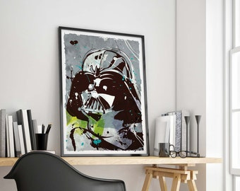 Pop Art Star Wars Darth Vader - Available in different sizes. Check the drop-down menu for your choice. Fan Art geek print