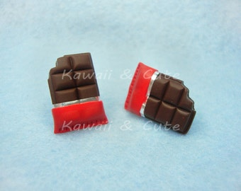 Earrings Chocolate Tablet