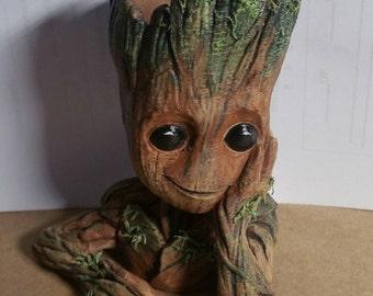 Baby Groot Planter   Flower Pot   guardians of galaxy Fan Art   Succulents   Planter   mini planter   flower pot   desk planter   Gift