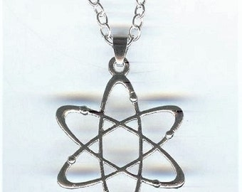 Big, ATOM, Charm, Pendant with .925 Necklace - P819