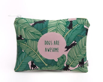 Dogs are Awesome Zip Bag
