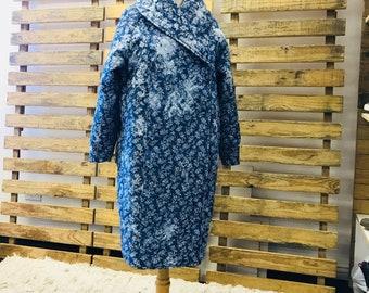 Lady Trucker Concubine Quilted Denim Coat