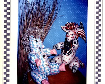 THE BALKY BURRO Stuffed Soft Toy Donkey Pattern ©1990 The Country Quayle