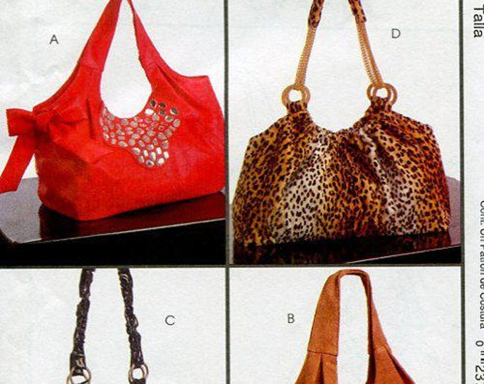 FREE US SHIP McCall's 5719 4 Great Purse Hobo Handbags 2008 Fashion Accessories Out of Print Old Store Stock Sewing Pattern