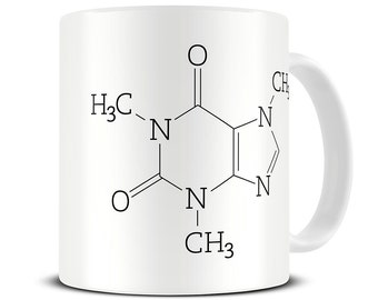 Chemistry Mug - Caffeine Molecule Coffee Mug - science gifts - nerd gift MG273