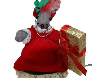 Mon Petit Chou Christmas Mouse Doll