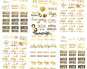 Bachelorette Team Bride Temporary Tattoos 100+ Metallic Tattoos Bride Tribe Bachelorette Party Favors Supplies Gifts Accessories Gold Silver