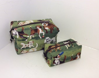 Dog makeup bag, cosmetic bag, great gift or present, stocking filler