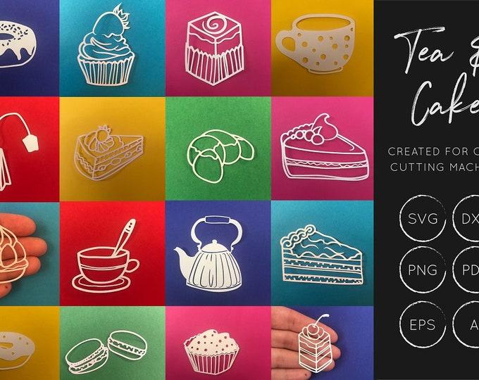 Cake SVG cut file Bundle