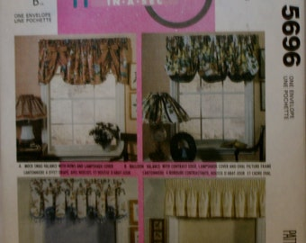 McCall's Retired Valance, Roller Shade,  Picture Frame, Lampshade Sewing Pattern UnCut