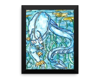 Framed poster - Underwater Panther