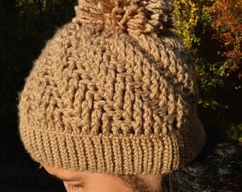 Beige Please No Chill Crochet Hat