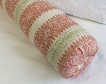 Frascati Coral bolster  lumbar accent throw pillow 6x14 6x16 6x18 6x20 6x22