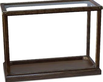 Wood frame display case