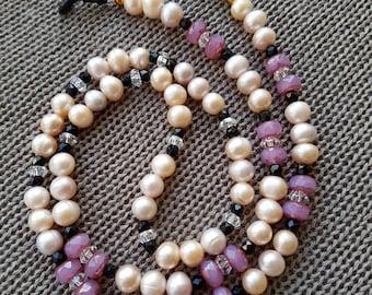 Eye Glass Holder, Beaded Glasses Chain, Glasses Accesories, Eye Glasses Beads, Mothers Day Gift, Gift for Her