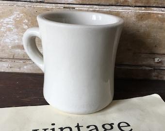 Vintage Ironstone Heavy Coffee or Shaving White Mug or Cup Ironstone