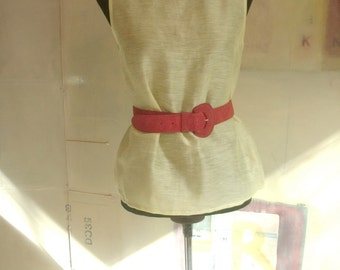 Vintage. Clothing. Top. Accessories . Vintage Otto Glanz Leather/Suede Belt. Vintage Womens Clothing