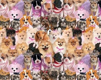 Puppy love euro CL knit 1/2 yard cotton lycra knit SALE