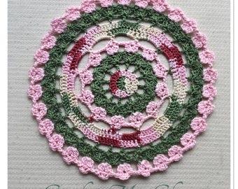 Painted Petals Doily Crochet Pattern - Instant download - Crochet PATTERN (pdf file)