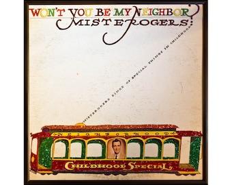 Glittered Mr Rogers Neighborhood Album
