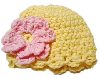 Baby girl hat, Newborn hat, Crochet baby hat, Newborn preemie hat, infant hat, Newborn photo prop, baby shower gift, crochet baby girl hat