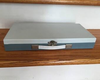 Vintage Smith-Victor Metal Storage Case