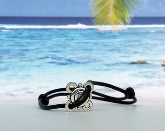 Surferarmband-pearl-beach-yoga-outdoor-fitness-unisex-Silvana-beach-Jewelry-Beach poems-bracelet made of solid rubber