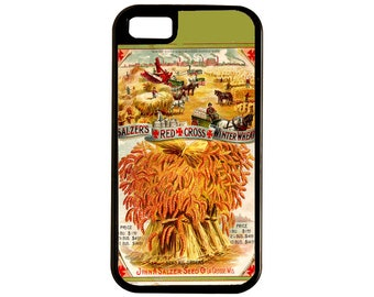 Vintage Farm Scenes And Sheafs Of Golden Winter Wheat Are Featured In This WW1 Seed Catalog iPhone And Samsung S Cases