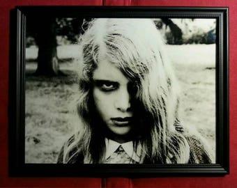 "Night of the Living Dead Zombie Girl Framed Photo Art Print Horror Gift Present Publicity Still Reproduction 8.5"" x 11"" Framed in Glass"