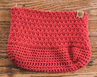 Crochet Star Stitch Pouch--Woodberry