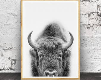 Buffalo Print, Nursery Decor, Nursery Art, Nursery Wall Art, Bison Wall Art, Kids Room Decor, Bison Poster Art,  Printable Buffalo, Bison